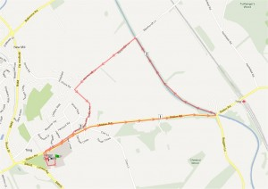 Adult run route