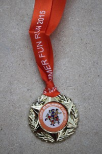 Fun Run medal 2015