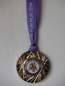 Fun Run medal 2014
